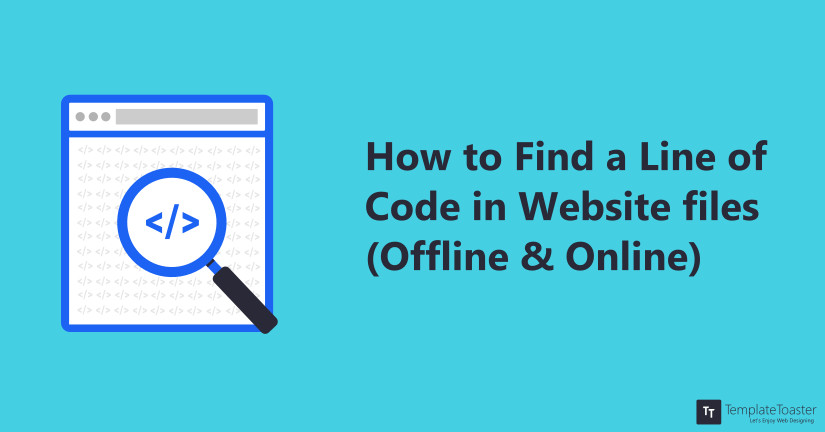 How to Find a line of code in a Website or File Blog